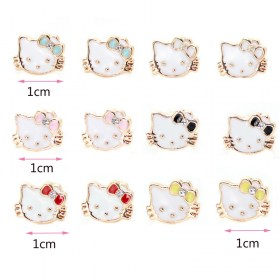 Pendientes-one-pairs-lot-Hello-Kitty-Owl-Flower-Crystal-_003
